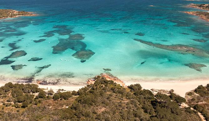 Fotografia aerea Sardegna. Stock fotografico Sardegna
